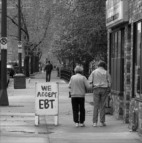 Elderly walking and EBT