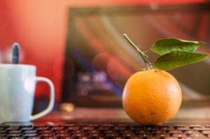 Orange on Laptop